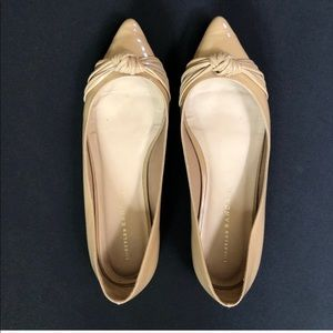 Nude Patent Leather Ballet Flat